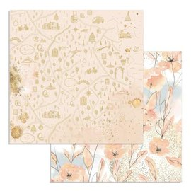 Papier scrapbooking réversible Stamperia doube face 30x30 aquarelle flowers