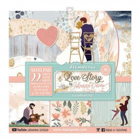 Papier scrapbooking assortiment Stamperia 22f 30x30 Love Story