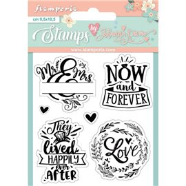 Tampon clear stamps motifs now and forever 6 tampons Stamperia