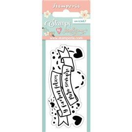 Tampon clear stamps motifs label 1p Stamperia