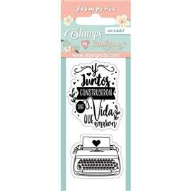 Tampon clear stamps motifs typewriter 2 tampons