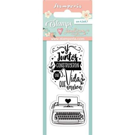 Tampon clear motifs typewriter 2 tampons Stamperia