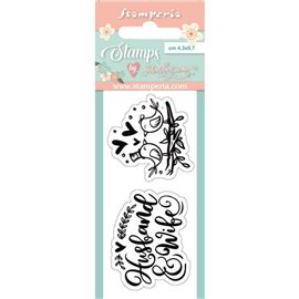 Tampon clear stamps motifs birds 2 tampons