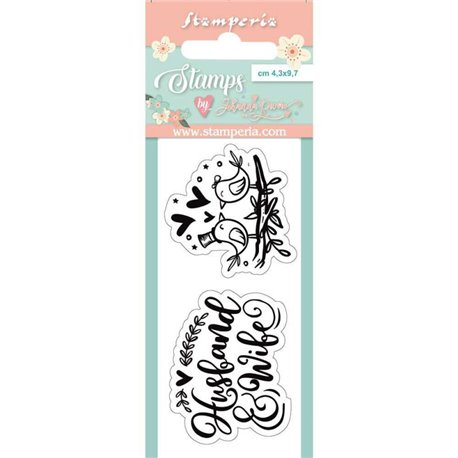 Tampon clear motifs birds 2 tampons Stamperia