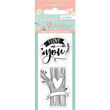 Tampon clear motifs love you 2 tampons Stamperia