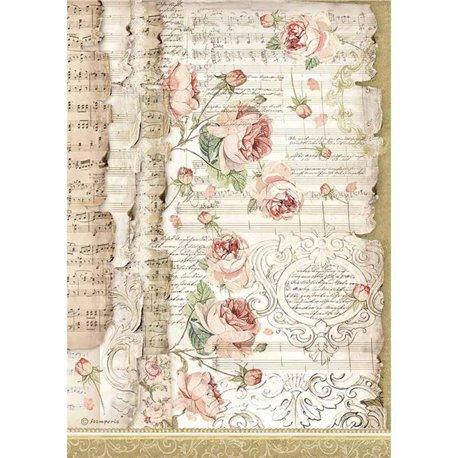 Papier de riz Stamperia 21x29,7cm princess