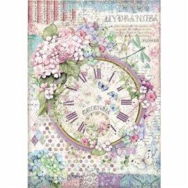 Papier de riz Stamperia 21x29,7cm clock