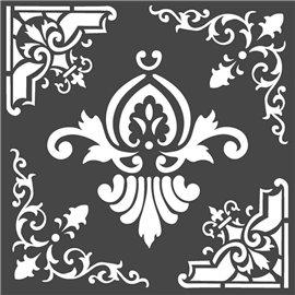 Pochoir décoratif Stamperia freez 18x18cm