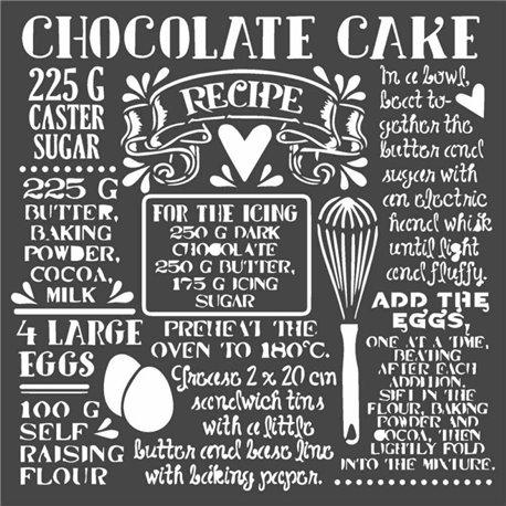 Pochoir décoratif Stamperia chocolate cake 18x18cm