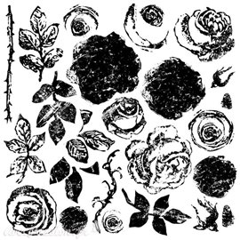 Tampons IOD Clear Stamps Painterly Roses