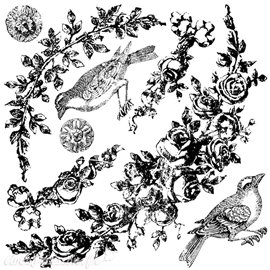 Tampons IOD Clear Stamps Floral Swags