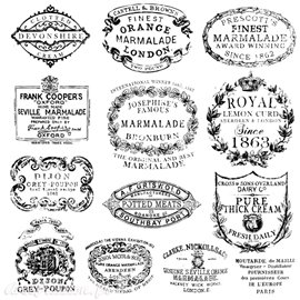 Tampons IOD Clear Stamps Crockery