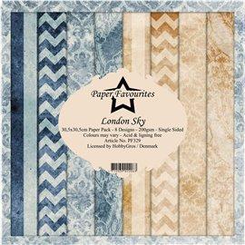 Papier scrapbooking assortiment Dixi Craft Paper Favourites london sky 30x30 8fe