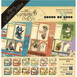 Papier scrapbooking assortiment Graphic 45 place in time Deluxe collection 30x30