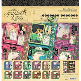 Papier scrapbooking assortiment Graphic 45 fashion forward recto verso 30x30 16fe