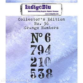 Tampon caoutchouc IndigoBlu N°36 collection chiffres 4x7cm SUP erreur code