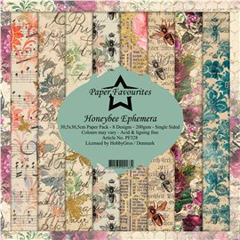 Papier scrapbooking assortiment Dixi Craft Paper Favourites honeybee ephemera 30x30 8fe
