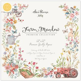 Papier scrapbooking assortiment farm meadow 40fe 30x30