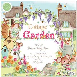 Papier scrapbooking assortiment cottage garden 40fe 30x30