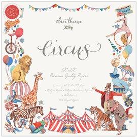 Papier scrapbooking assortiment circus 40fe 30x30
