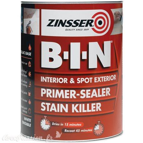 Primaire anti tanin anti odeur intérieur 1l Zinsser BIN résine shellac