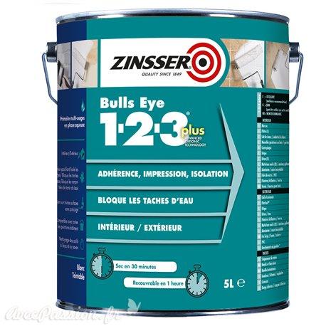 Primaire surface lisse non poreuse int/ext 2.5l Zinsser Bull Eye 123 PLUS