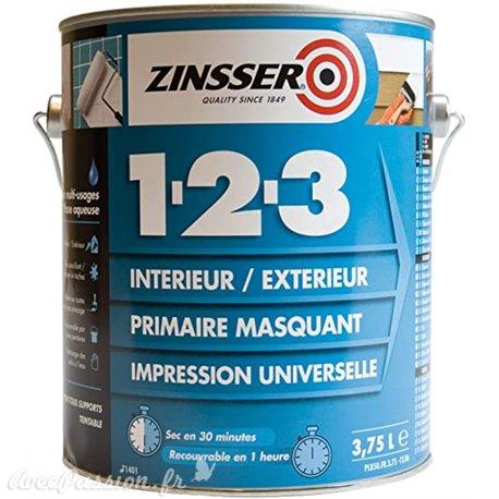 Primaire anti tanin anti odeur anti rouille int/ext 2.5l Zinsser Universel 1-2-3