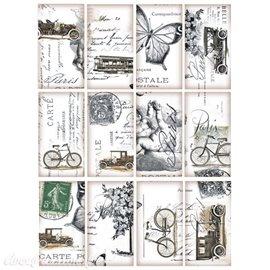 Tag scrapbooking image vintage voiture & vélo