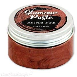 Pâte de texture colorée Glamour Paste Stamperia vieux rose