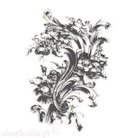 Tampon déco Fleurs en filigrane 20x18cm