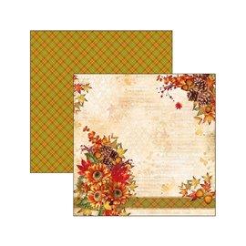 Papier scrapbooking réversible Ciao Bella cartes d'automne 30x30