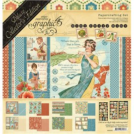 Papier scrapbooking assortiment Graphic 45 home sweet home Deluxe collection 30x30