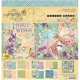 Papier scrapbooking assortiment Graphic 45 fairies wings Deluxe collection 30x30