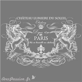 Décalcomanie Transfert pelliculable Chateau Lumiere blanc 86 x 55cm