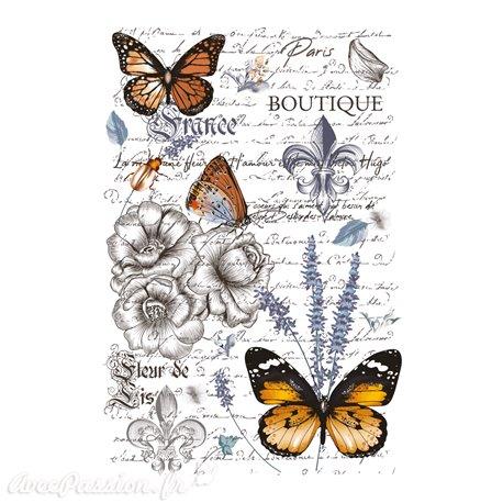 Décalcomanie Transfert pelliculable Papillon 58x86cm