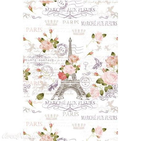Décalcomanie Transfert pelliculable Marche Paris 59 x 88cm