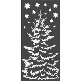 Pochoir décoratif Stamperia sapin de noël