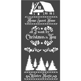 Pochoir décoratif Stamperia hiver magique