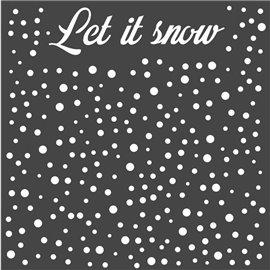 Pochoir décoratif Stamperia neige 18x18cm