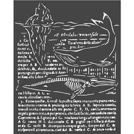 Pochoir décoratif Stamperia baleine 20x25cm