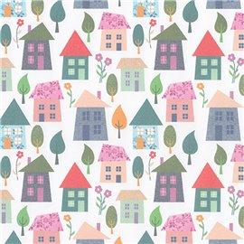 Papier italien motifs maisons