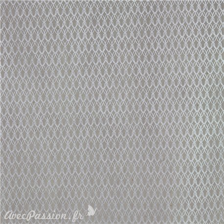 Papier népalais lokta real gris argent