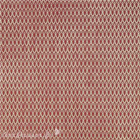 Papier népalais lokta real rouge motifs doré