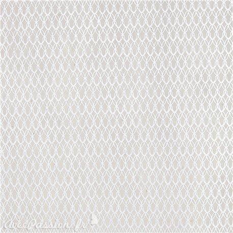 Papier népalais lokta real naturel motifs blanc