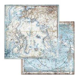 Papier scrapbooking réversible Stamperia doube face 30x30 arctic