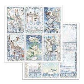 Papier scrapbooking réversible Stamperia doube face 30x30 cartes