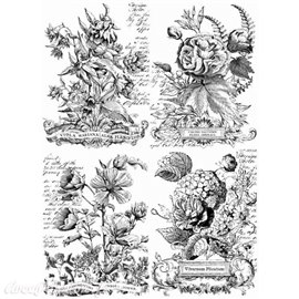 Transfertpelliculable Iron Orchid Designs IOD Classic Bouquets 61x84cm
