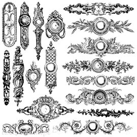 Tampons IOD Clear Stamps Backplates 18pièces