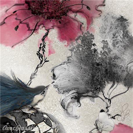 Carte d'art Valie Le Boeuf Oiseau de paradis