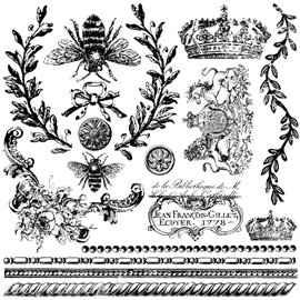Tampons IOD Clear Stamps Queen Bee 16 pièces